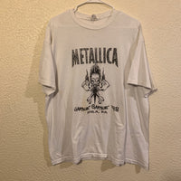 Vintage White Metallica '98 T Shirt