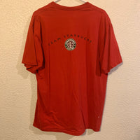 "Vintage ""Team Starbucks"" Aids Walk T Shirt"