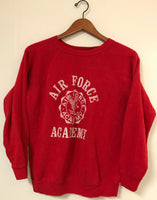 Vintage 80's Red Air Force Academy Sweater Crewneck