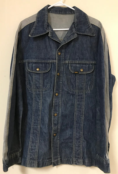 Vintage 70's Lee Two Tone Denim Jean Jacket