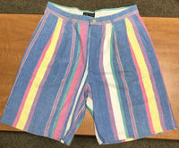 Vintage Colorful Striped Preppy Shorts Sz 34