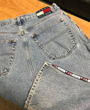Vintage Tommy Hilfiger Side Stripe Denim Jeans Sz 34x32