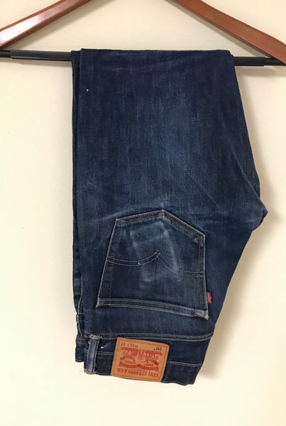 Levi's Dark Wash Selvedge Denim Paint Splattered Denim Jeans Sz 31x32
