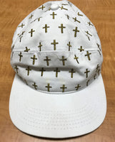 Fcking Awesome Embroidered Crosses Snapback Hat
