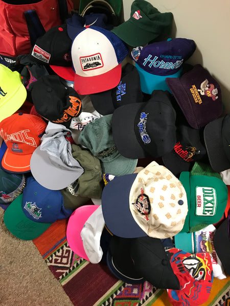 Vintage Snapback Hats >> Random 10 Vintage Assorted Snapback Hats Lot