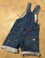 Vintage GUESS Jeans Denim Overall Shorts Sz 8
