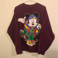 Vintage 90's Mickey Mouse Graphic T Shirt Crewneck Sweatshirt