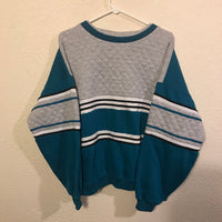 Vintage 90's Striped Multi-Color Crewneck Sweatshirt
