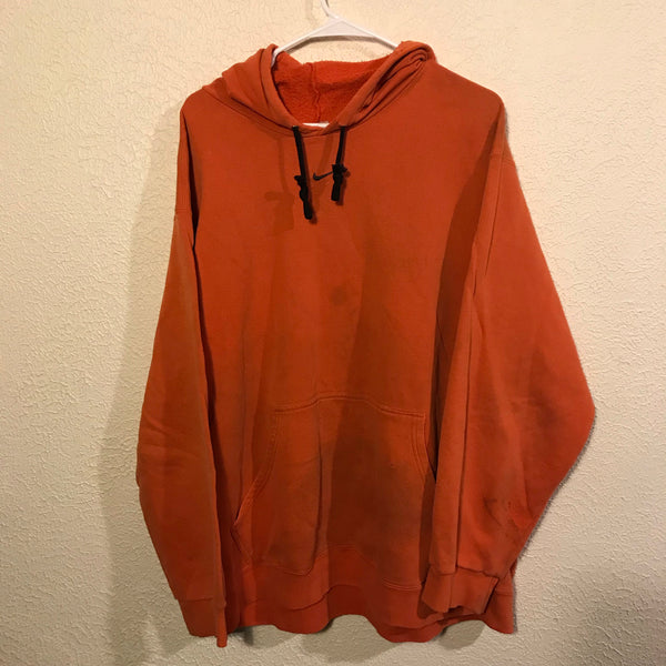 Early 2000's Orange Nike Center Swoosh Distressed Sweatshirt