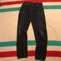 Vintage Black Levi's 550 Denim Jeans Sz 11 Long