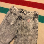 Vintage 90's Guess Light Stone Wash Black Jeans Sz 29