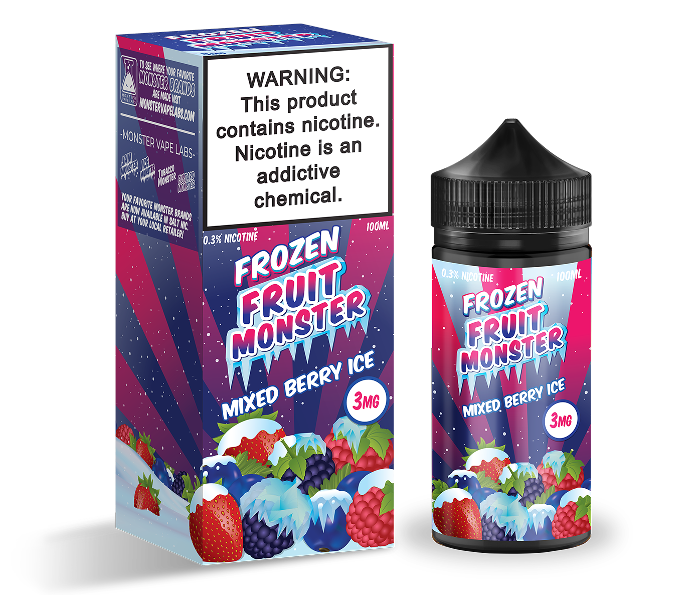 Frozen Fruit Monster | Mixed Berry Ice | 100ML