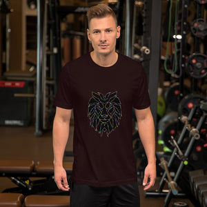 Short-Sleeve Unisex Lion T-Shirt
