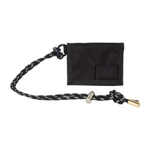 SACAI NYLON TRIFOLD WALLET BLACK