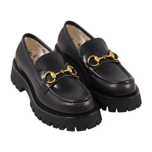 GUCCI PLATFORM LOAFER BLACK