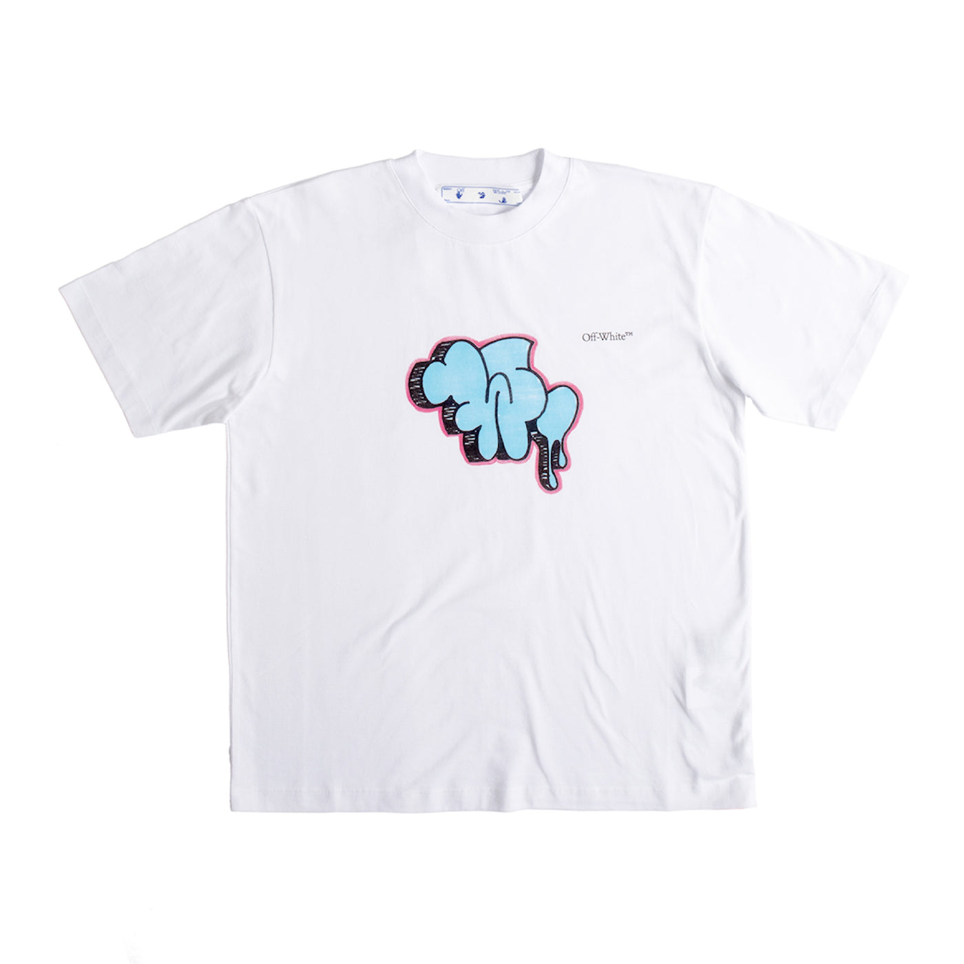 Load image into Gallery viewer, OFF-WHITE GRAFFITI CASUAL TEE WHITE