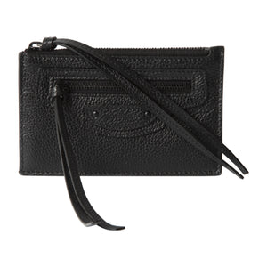 BALENCIAGA LEATHER POUCH BLACK