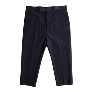 RICK OWENS CROPPED ASTAIRE PANTS BLUE