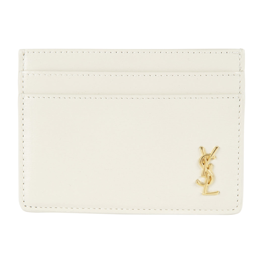 SAINT LAURENT CARDCASE WHITE