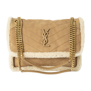 "SAINT LAURENT ""NIKI"" MONOGRAM HANDBAG NEUTRAL"
