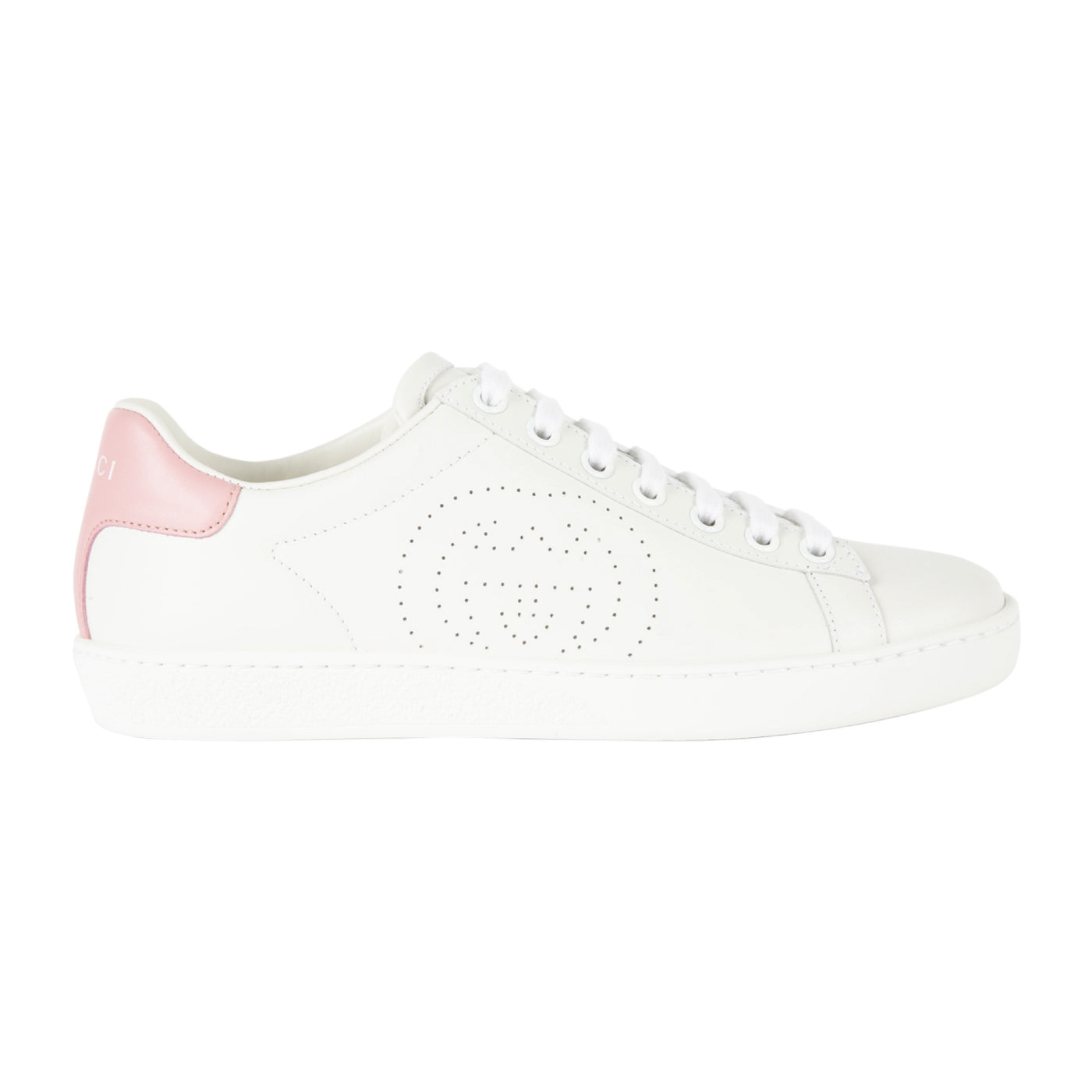 "Load image into Gallery viewer, GUCCI ""NEW ACE"" LOW SNEAKER WHITE"