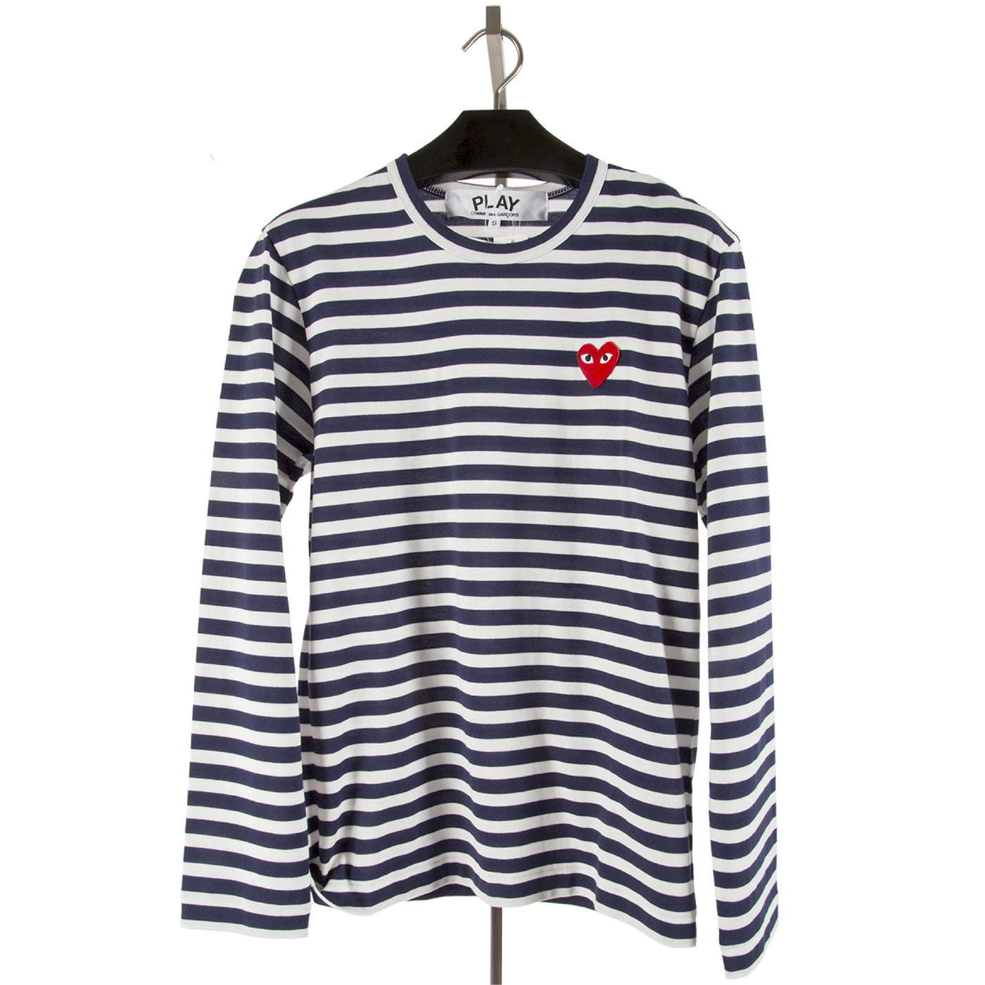 Load image into Gallery viewer, COMME DES GARCONS PLAY LONG-SLEEVE T-SHIRT NAVY