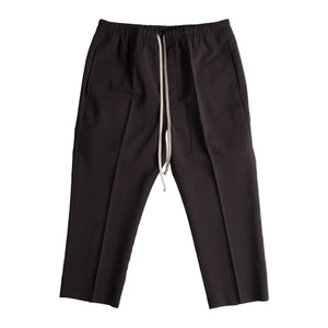 RICK OWENS DRAWSTRING SLIM CROPPED PANTS GREY