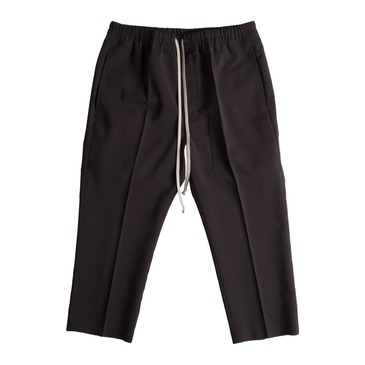 Load image into Gallery viewer, RICK OWENS DRAWSTRING SLIM CROPPED PANTS GREY