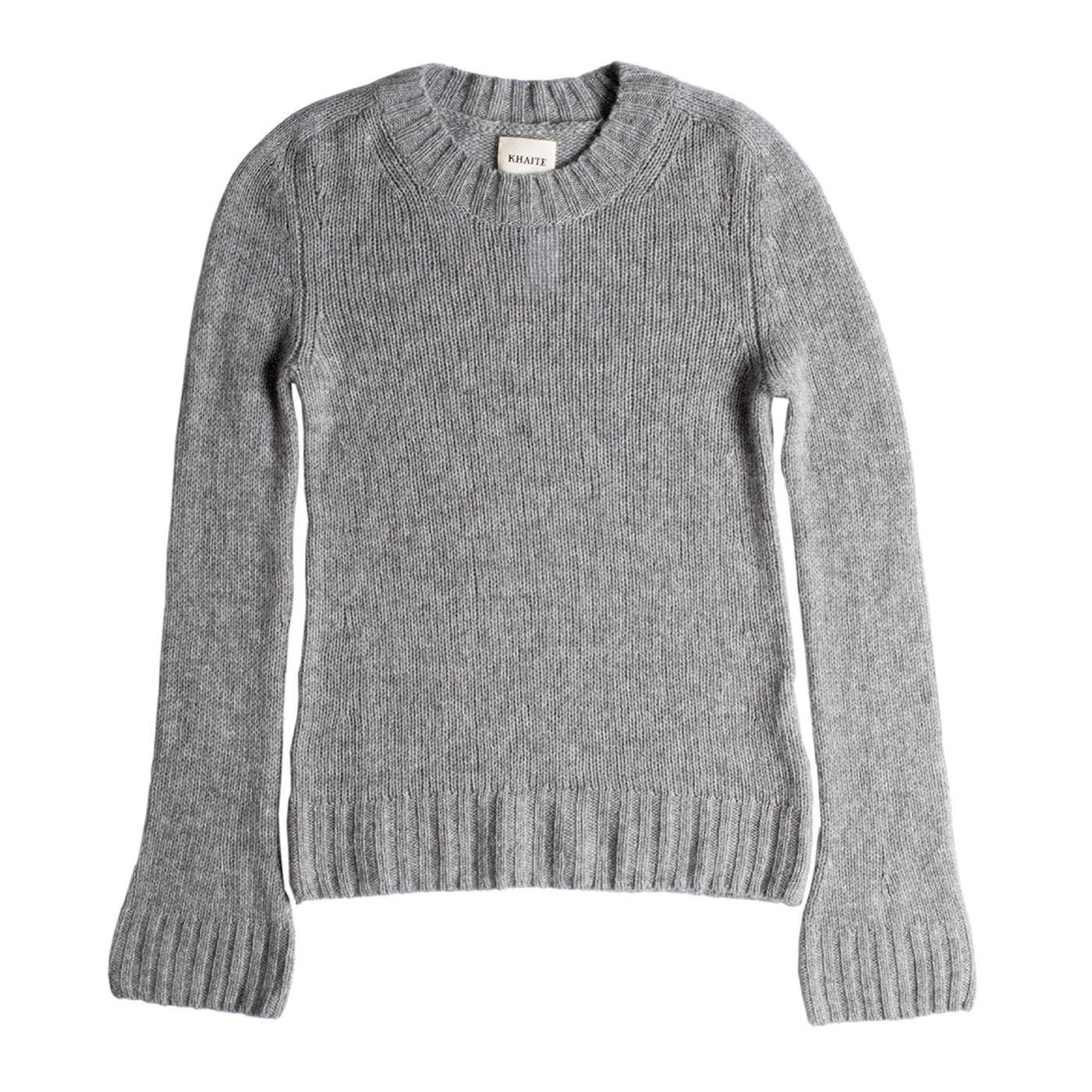 Load image into Gallery viewer, KHAITE MARY JANE PULLOVER SWEATER GREY