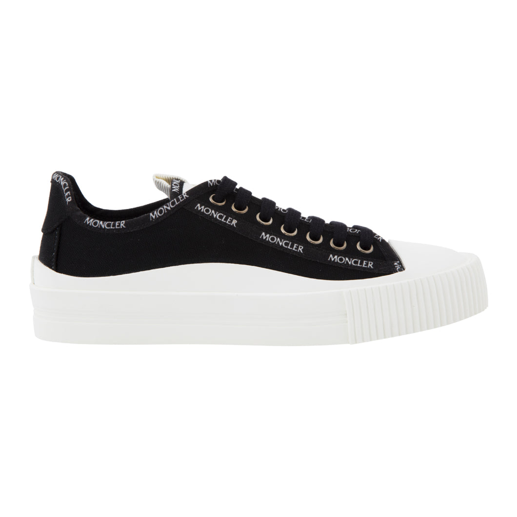 MONCLER GLISSIERE LOW TOP SNEAKERS BLACK
