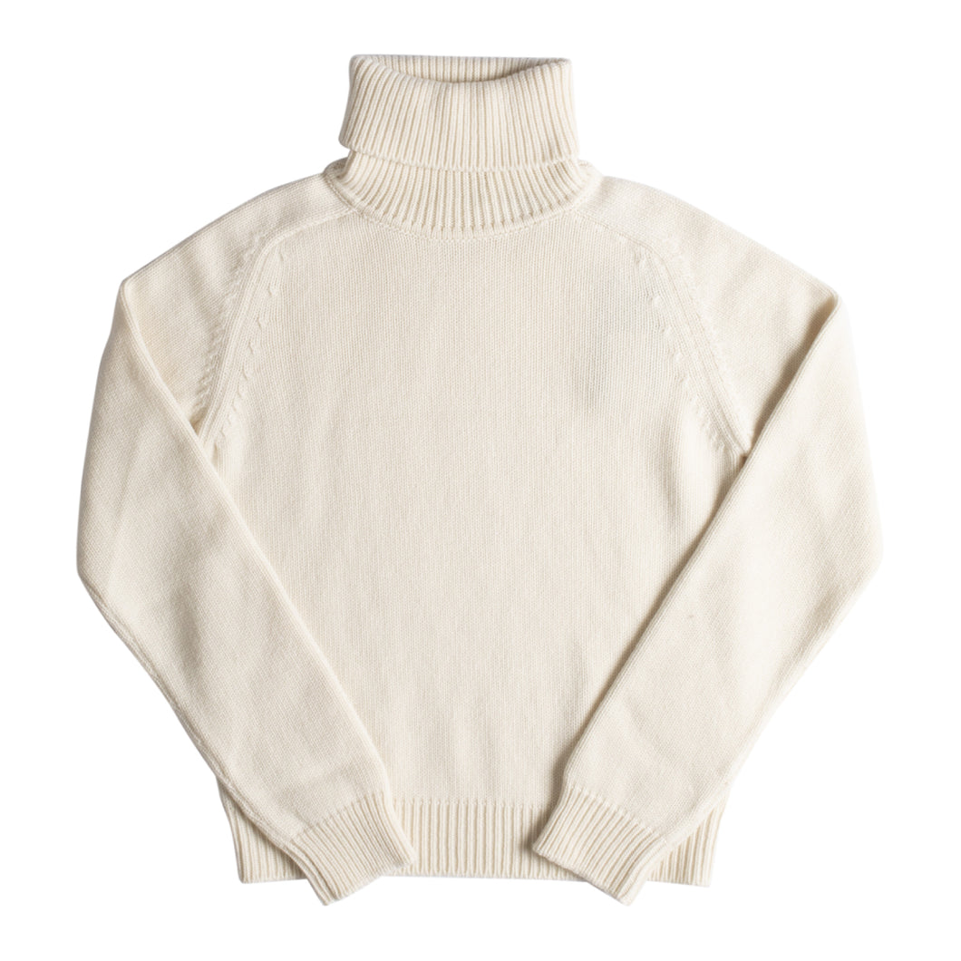 SAINT LAURENT CASHMERE TURTLENECK WHITE