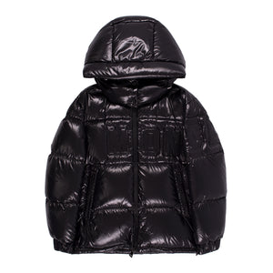 MONCLER HOODED PUFFER JACKET BLACK
