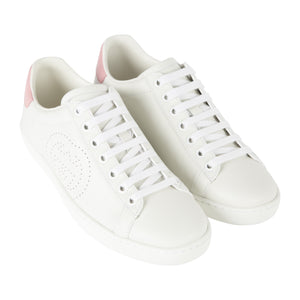 "GUCCI ""NEW ACE"" LOW SNEAKER WHITE"