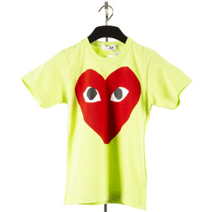 COMME DES GARCONS PLAY T-SHIRT WITH BIG RED HEART GREEN