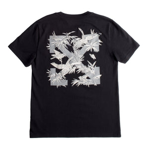 OFF-WHITE EMBROIDERED BIRD TEE BLACK