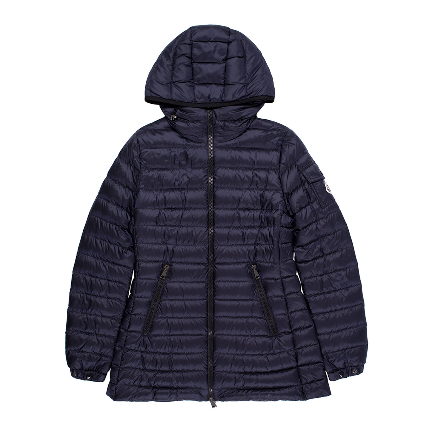 Load image into Gallery viewer, MONCLER HOODED PUFFER COAT NAVY