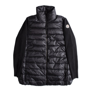 MONCLER LONG COMBINED FLEECE JACKET BLACK