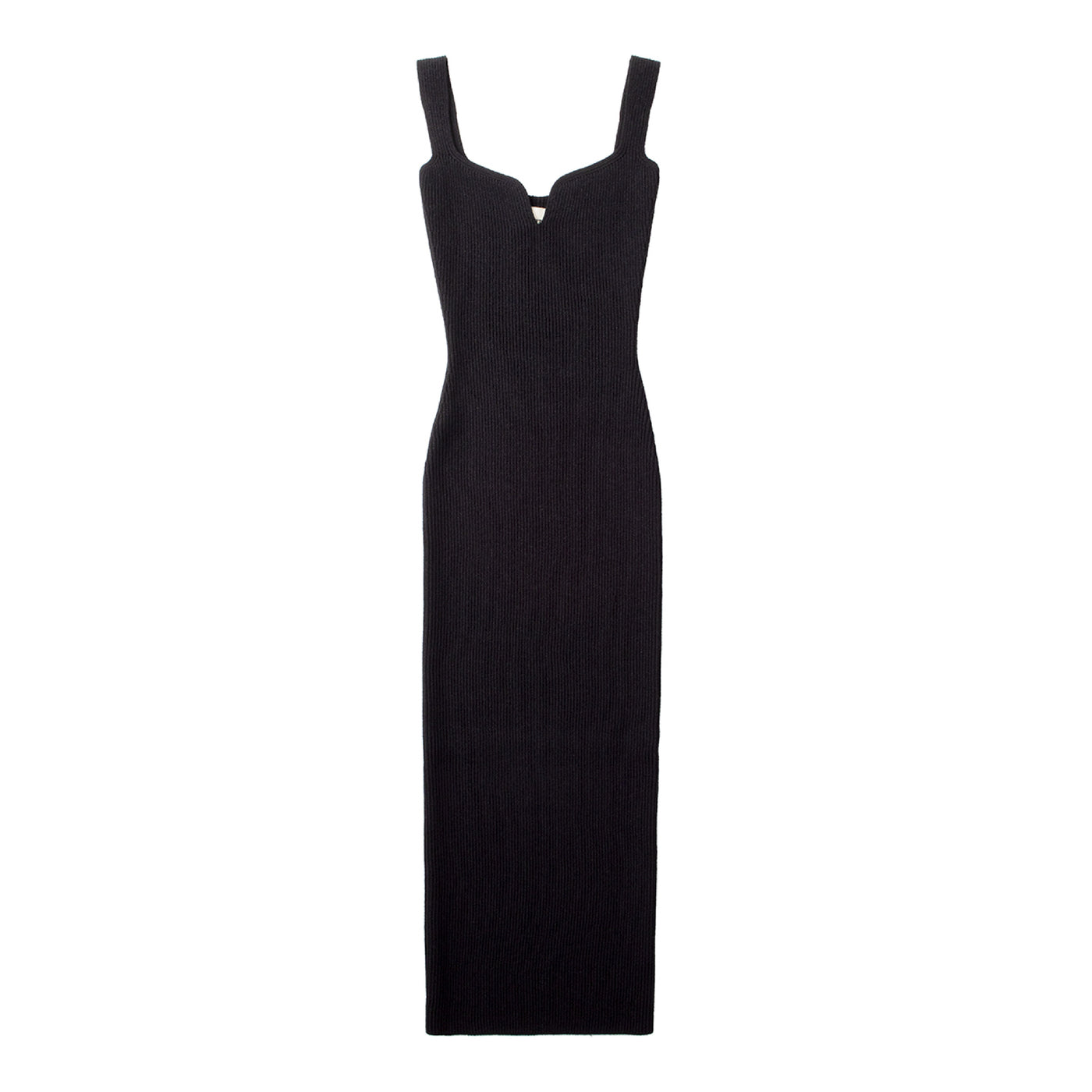 Load image into Gallery viewer, KHAITE NOTCHED-TOP DRESS BLACK