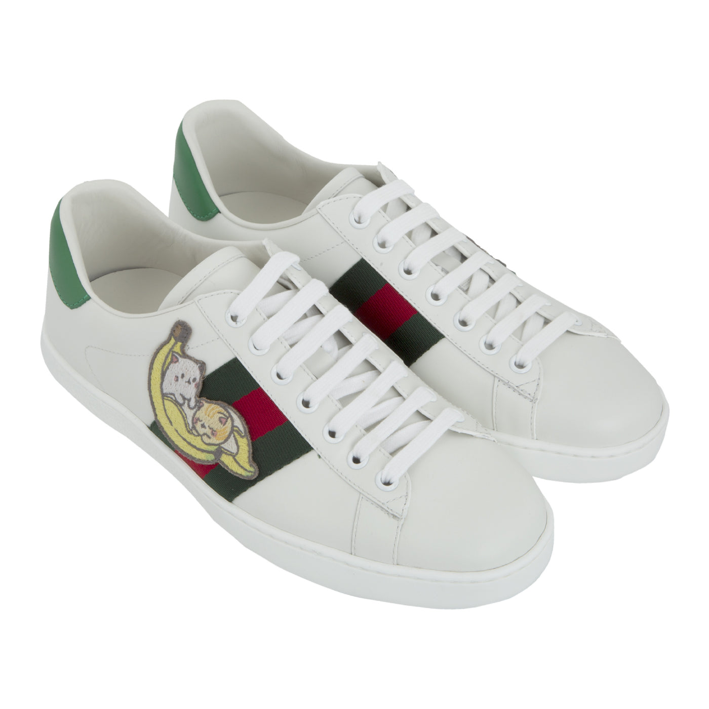Load image into Gallery viewer, GUCCI BANANYA ACE SNEAKER WHITE