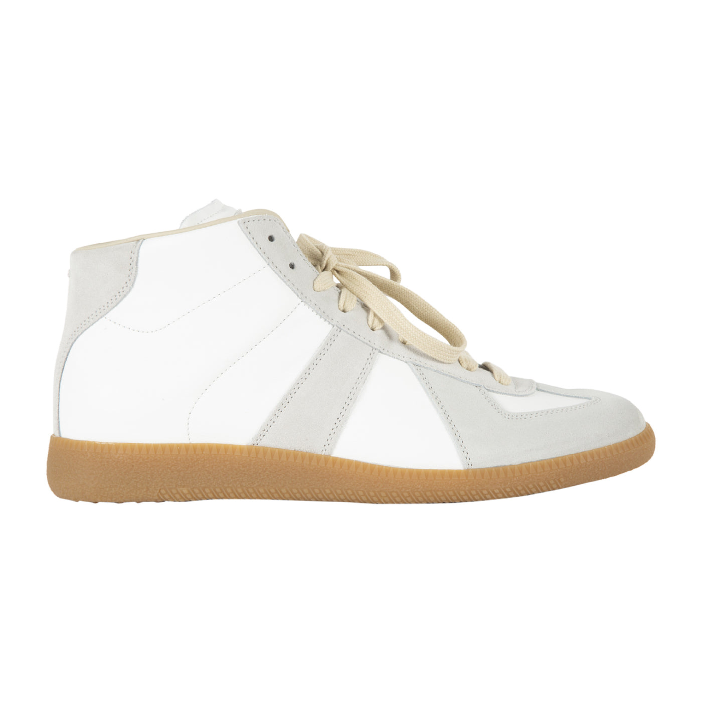"Load image into Gallery viewer, MAISON MARGIELA ""REPLICA"" HIGH TOP SNEAKERS WHITE"