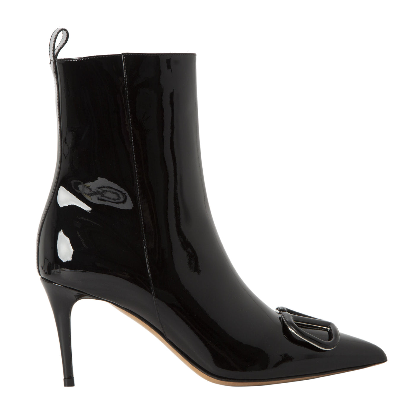 Load image into Gallery viewer, VALENTINO PATENT LEATHER BOOTIE BLACK