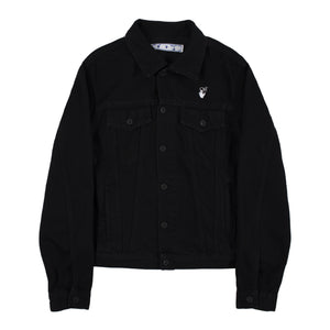 OFF-WHITE  DENIM JACKET BLACK