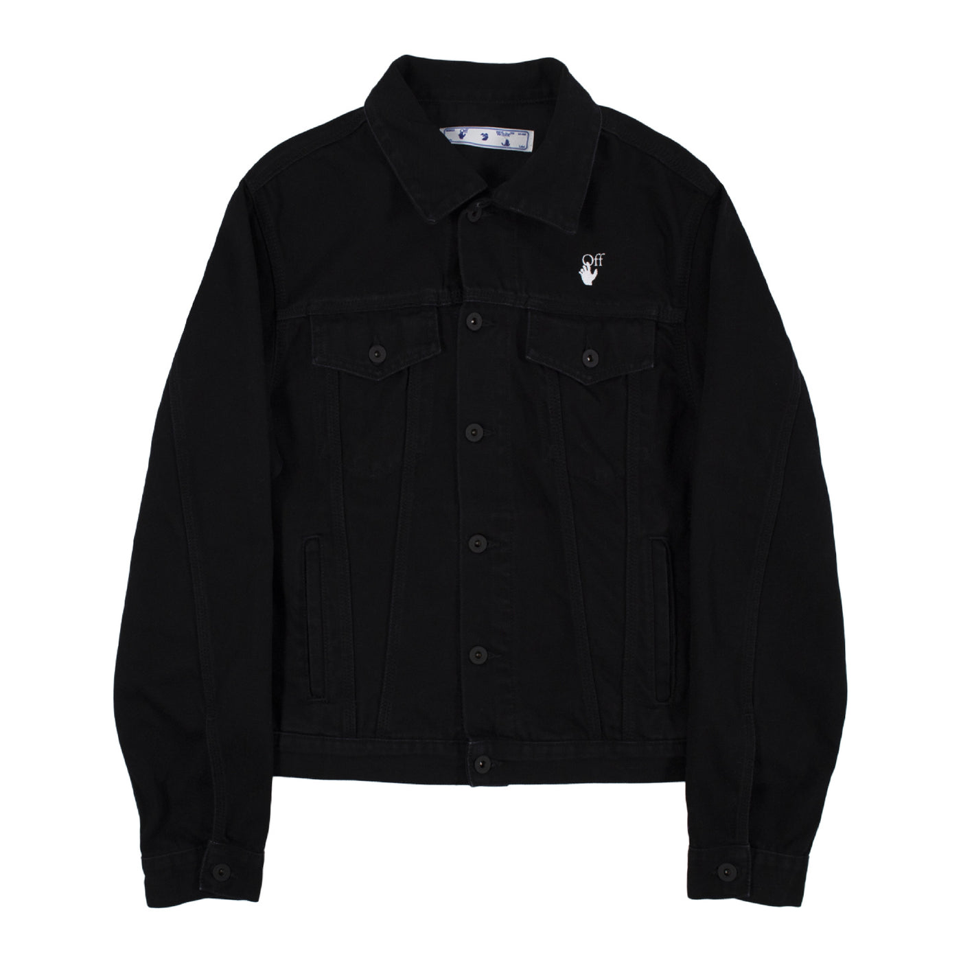 Load image into Gallery viewer, OFF-WHITE  DENIM JACKET BLACK