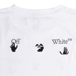 OFF-WHITE BIG LOGO SLIM TEE WHITE
