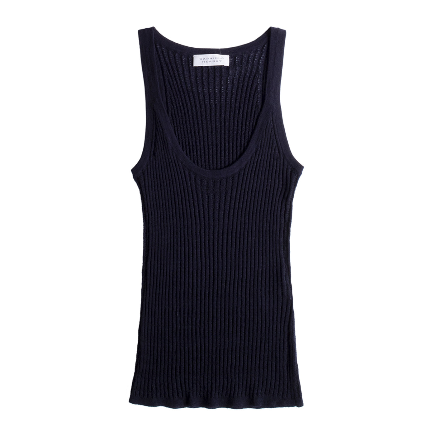 Load image into Gallery viewer, GABRIELA HEARST GRAHAM POINTELLE TANK BLUE