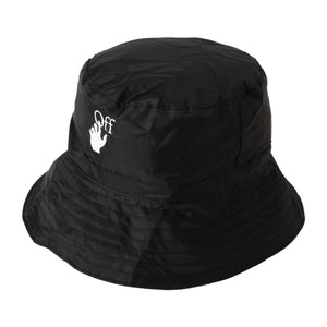OFF-WHITE PACKABLE BUCKET HAT BLACK