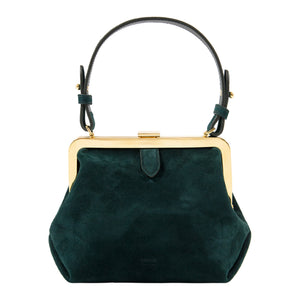 KHAITE SMALL TOP-HANDLE SATCHEL GREEN