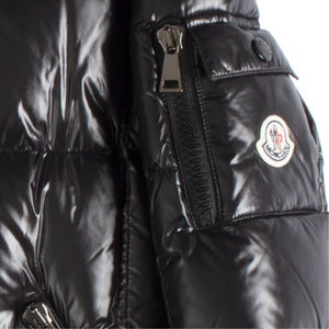 MONCLER SHINY PUFFER COAT BLACK
