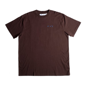 OFF-WHITE FLAG OVER TEE BROWN