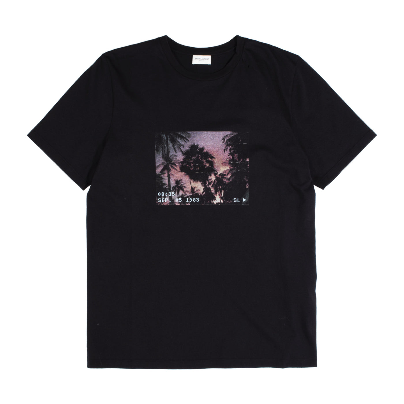 Load image into Gallery viewer, SAINT LAURENT PALM TREE GRAPHIC T-SHIRT BLACK
